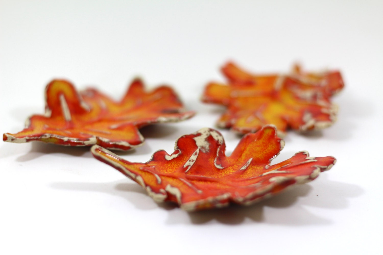 Autumn leaves ceramic fall leaves home decor fall decoration for Autumn leaf decoration