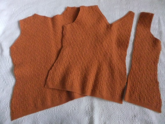 Felted Extra Fine Italian Merino Wool Cable Sweater