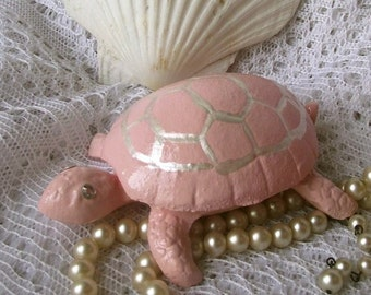 Cast Iron Turtle Hide a Key/ Ring Holder/Trinket Holder/Jewelry holder/French Decor/ Trinket Box