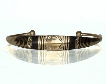 Bronze Tuareg Bracelet with Ebony