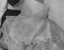PDF Knitting PATTERN - Two Baby Shawls 2ply lace weight - Heirloom//Keepsake//Vintage