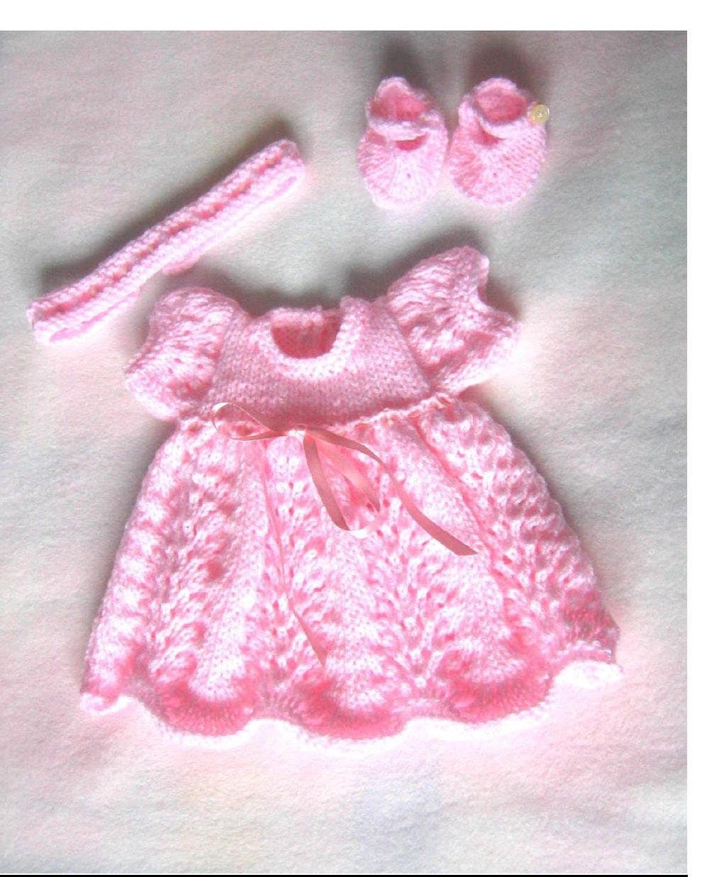 Knitting Pattern Dolls Shoes : Doll Knitting PATTERN Dress Shoes and Headband To fit 14