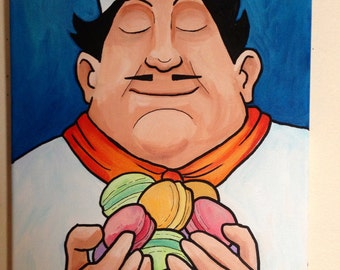 Macaron Chef Painting