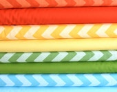 Tone on Tone Bright Chevrons and solids  FQ bundle 12 total