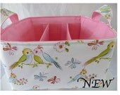 Diaper Caddy, Fabric organizer bin with adjustable dividers 12 x 10 x 7