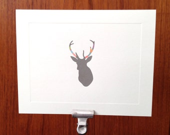 Wrapped Antler Note cards - Deer - Stationery Set of 10 cards and envelopes