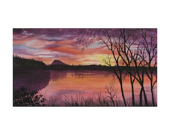 Winter Sunrise on Mud Bay Fine Art Print