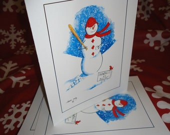 Baseball (Snowball) Note Cards