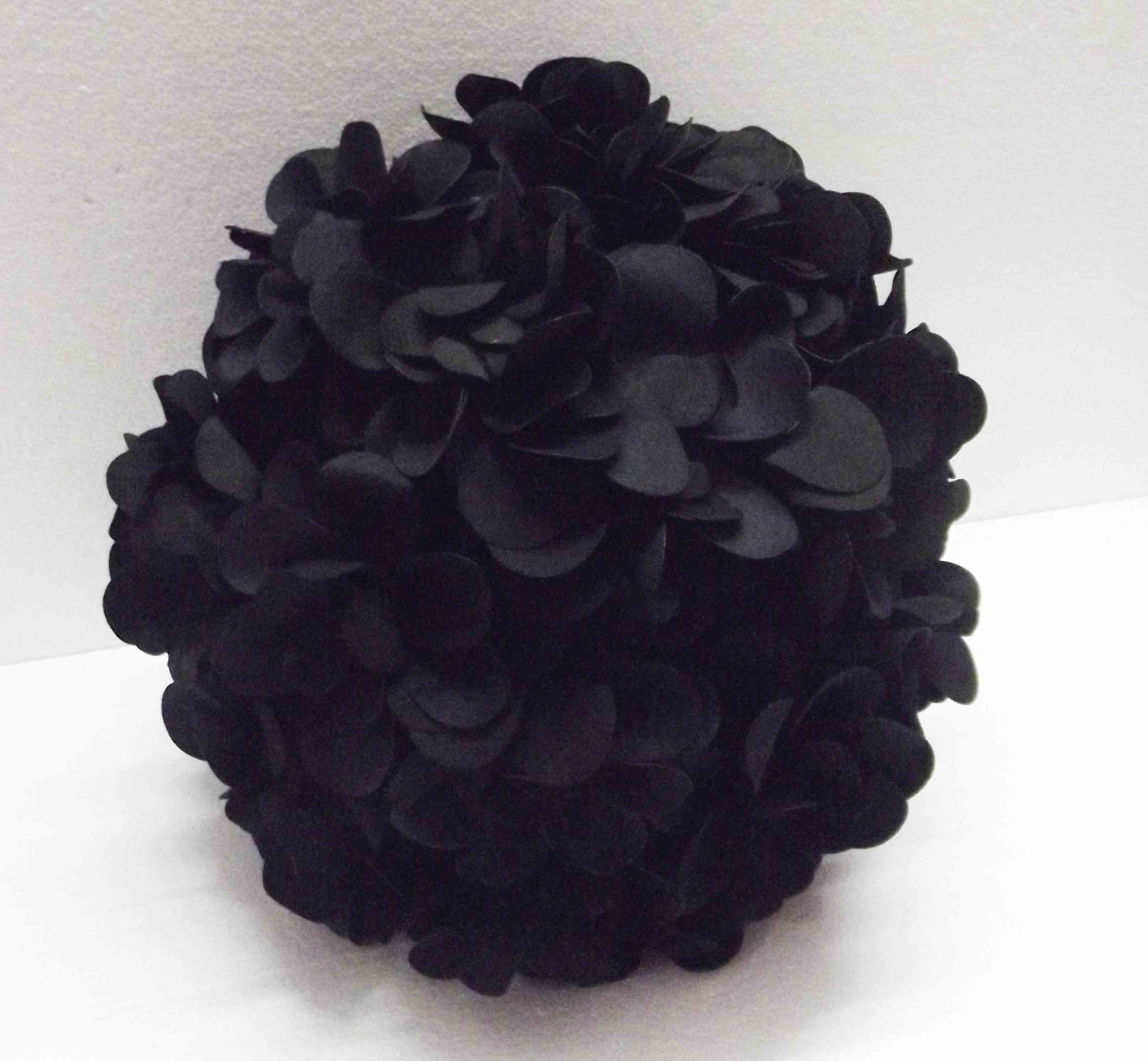 Round Decorative Pillows Black Flower Pillow Round Pillow Pouf Decorative Pillow