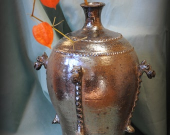 ACEO - Still Life of urn with orange lanterns