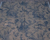 Waverly Blue and Cream Oriental Toile