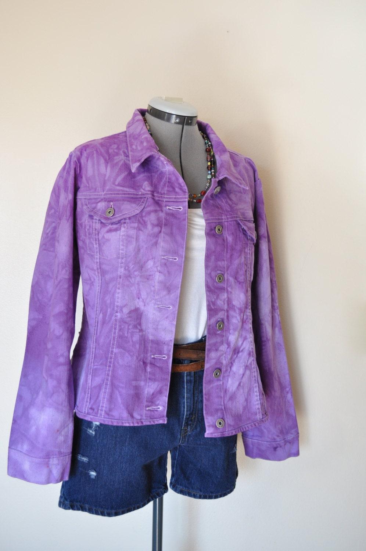 Violet Xl Denim Jacket Violet Purple Hand Dyed Upcycled