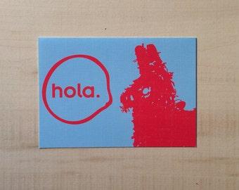 Hola/ Hello Piñata Notecard