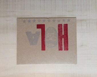 Hola Luchador Letterpress Card