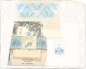 Crystal Grove Vintage Style Printable Editable PDF DIY Wedding Invitation Suite