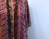 vintage. Chevron Print T Shirt Dress // S to M