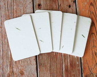50pc GRASS White Inclusions Series Business Card Blanks
