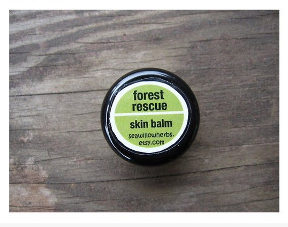 Forest Rescue Skin Balm - Gardening,Camping, Hiking, Outdoor- Herbal with Essential Oils - Sample Size - Travel Size