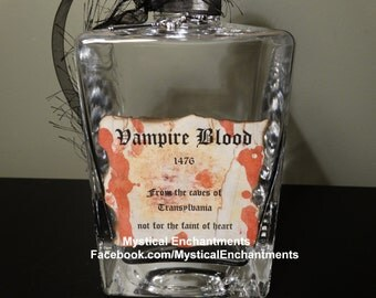 Large Glass Vampire Blood Decanter