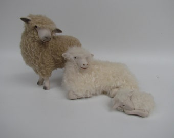 Sheep Lovers Holy Family Handcarved in Asheville, North Carolina