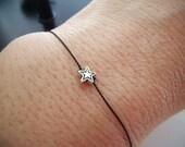 Silver Star Bracelet - Tiny Star - Wish Bracelet - Best Friends - Friendship Bracelet - Simple Birthday Gift - Keepsake #2-013