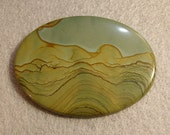 2091 Super Showy  Picture Jasper Cabochon - 74.5 cts  Reserved for eggstone1999