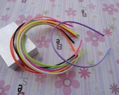 100pcs mix color plastic headband  thin 4mm