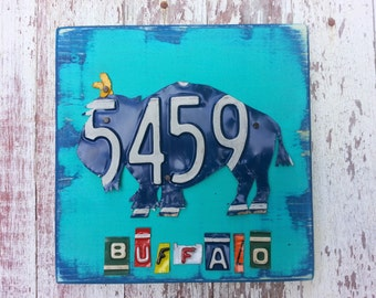 License Plate Art Artwork  BUFFALO  Zoo Animal Adventure Christmas Boys Girls Cute Nursery Play Room Baby Shower Safari  Jungle Woodland