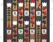 Snowman Row Quilt Pattern Colorado Quilt Designs Carolyn Beam CQD2004