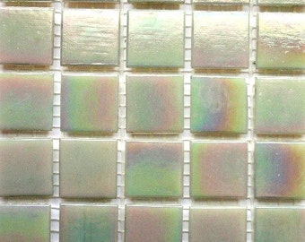 "20mm (3/4"")  Mother of Pearl Iridescent Vitreous Glass Mosaic Tiles/Abalone/ Mosaic Supplies/ Mosaics"