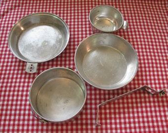 Vintage Boy Scouts Official Cook Kit  Mess Kit 1950s