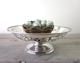 Vintage Silver Plate Compote