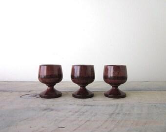 Wood Egg Cups Set of Three