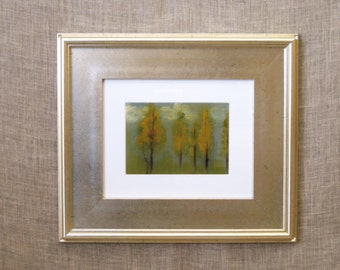 Landscape Painting, Original Fine Art, Nature, Fall Landscape, Wil Shepherd Studio, Wall Decor, Framed Art, Forest, Silver Frame