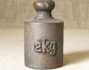 Scale Weight , Iron Scale Weight 2 kg , Weights , Paper Weight , Cast Iron , Iron Weight , Measure Weight , Trade Weight , Scale Accessory