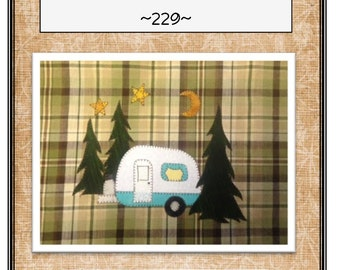 Camper Sweet Camper Applique Pattern