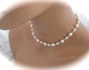 White Pearl Bridal Necklace Wedding Jewelry Bridal Jewelry