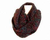 knit infinity scarf , unisex - eternity scarves - men scarf ,neckwarmer , fashion accessory, women scarf