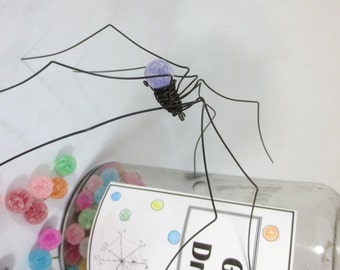 Lavender Long-Legged Purple GumDrop Spider Repurposed Sculpture