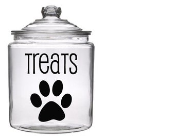 Dog Treat Canister (not included) Vinyl Decal Kit with Paw