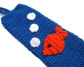 Plastic Bag Holder Goldfish with Bubbles Blue, Recycled Bag Dispenser, Walmart Bag Holder, Ocean Theme Nursery Decor Crochet for the Kitchen