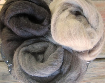 Your Choice High Quality Shetland Top Ecru, Fawn, Brown-black or Gray