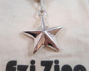Genuine Ezi Zino silver star pendant solid sterling silver 925