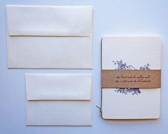 Elegant Wedding Invitation Booklet - SAMPLE