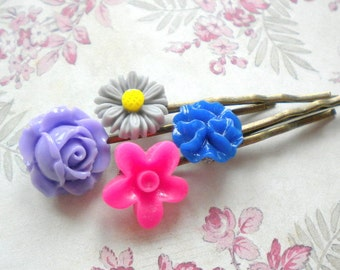 Flower Bobby Pin Gifts For Kid Flower Girl Hair Pin Resin Bobby Pin Romantic Hair Accessories Flower Girl Gift Set Children Gift Set