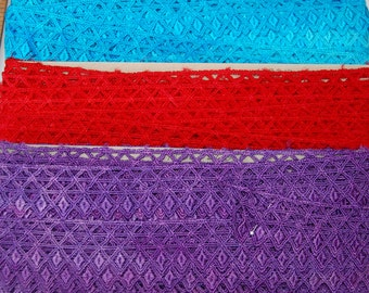 """Chevron Rayon Lace, 1.675"""", Hand-dyed, Multiple Colors"""