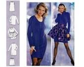 90s Dress Overskirt Skirt & Top Pattern Burda 4637 Sewing Pattern UNCUT FF Sizes 8 10 12 14 16 18