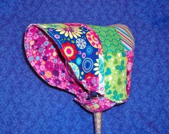Toddler Baby Bonnet Colorful Bonnet Reversible Bonnet