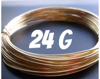NuGold Brass Wire 24g Round Dead Soft 10ft
