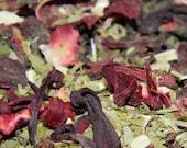 Unique Tea Blend  - choose Loose or 10 Teabags organic yerbe mate, organic hibiscus flowers, organic green stevia herb